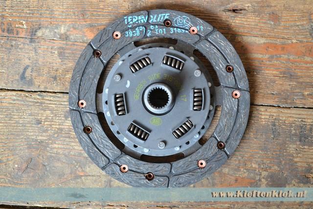 Koppelingsplaat 180mm, 1200/1300cc -7/67