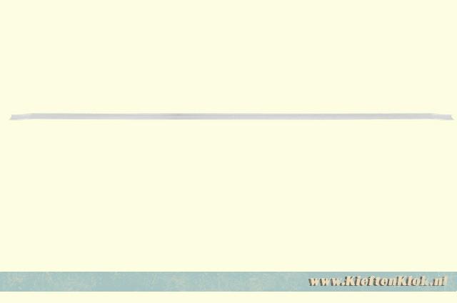 Achterruit gordijnrail bovenzijde, Westfalia 8/67-7/79