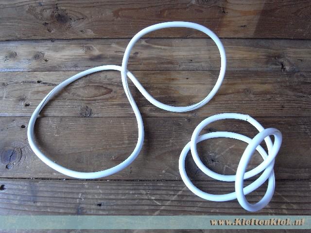 Kentekenplaatrand wit vinyl set