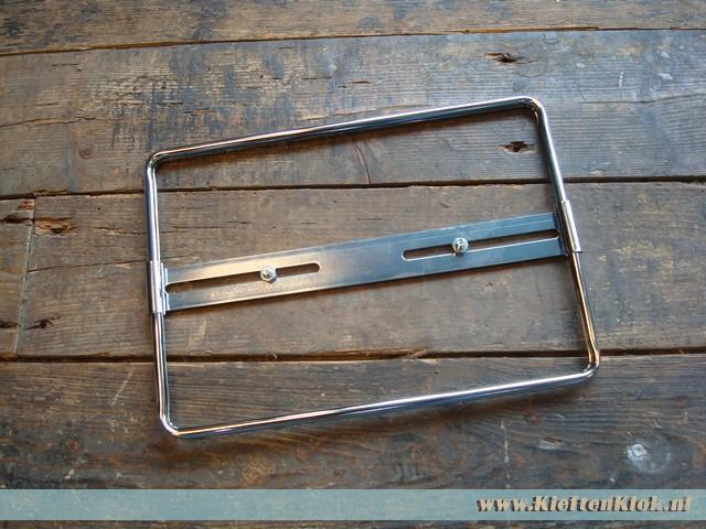 Kentekenplaat houder, chroom 27.5x19.5cm